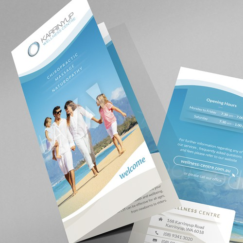 TriFold brochure for a wellness centre