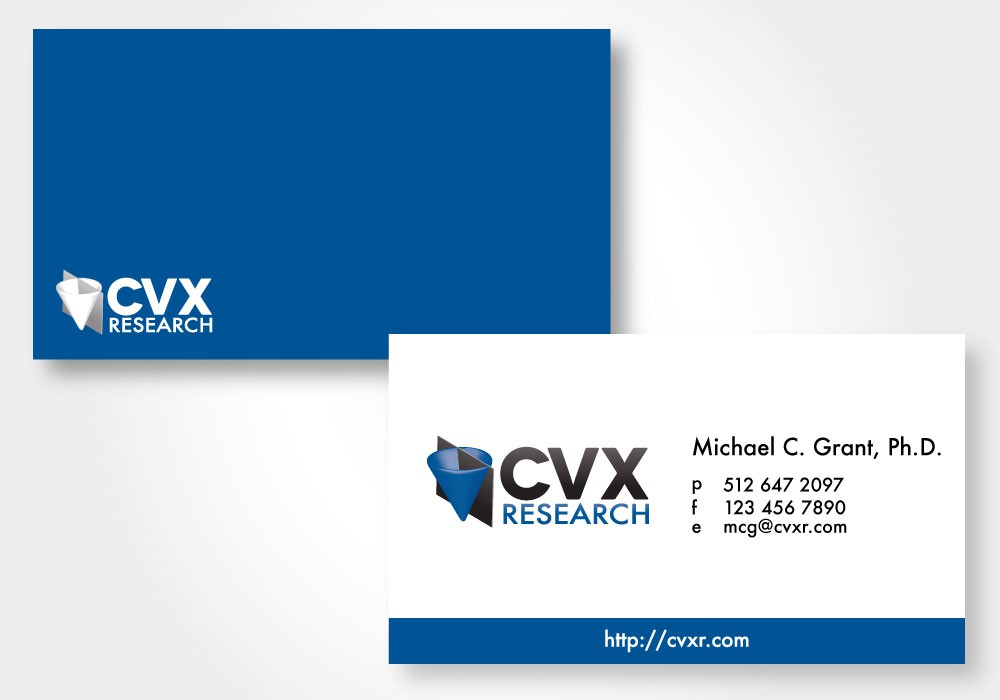 Logo and business card for CVX Research