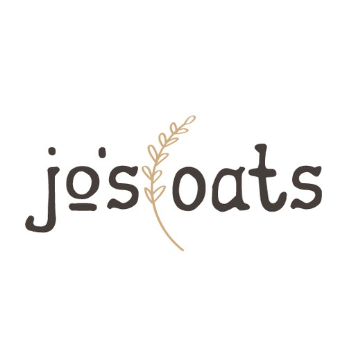 Hand drawn oat milk company logo