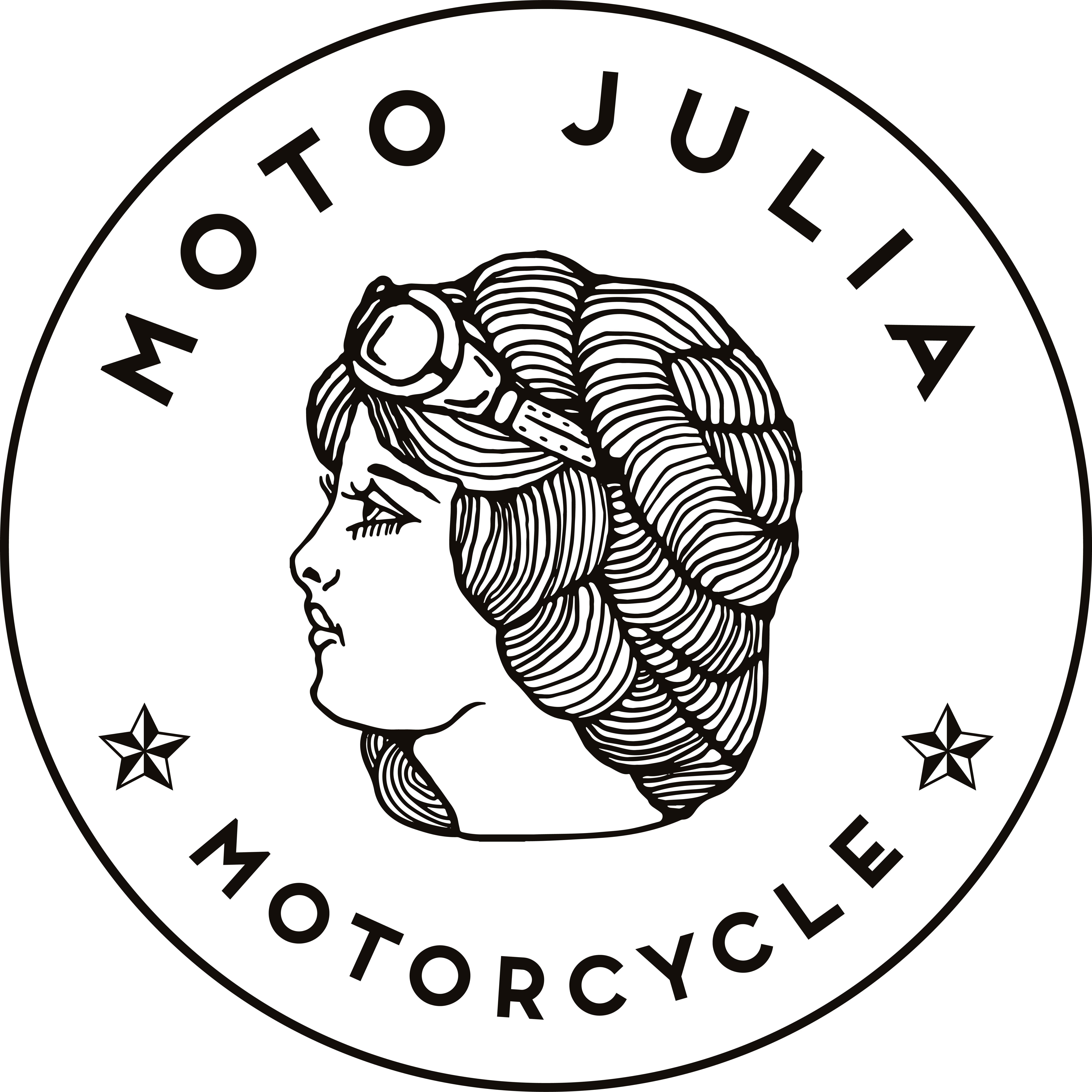 "New Orleans Motorcycle shop logo for ""Moto Julia"""