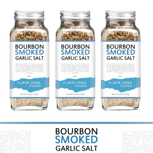 Bourbon Smoked Garlic Salt Label