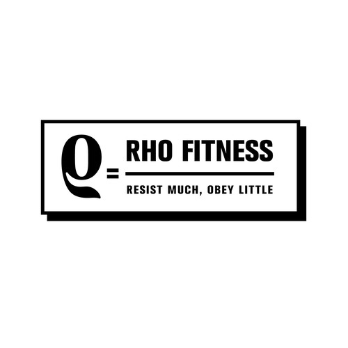 Rho Fitness logo design