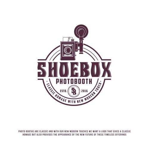 Shoe box photobooth logo
