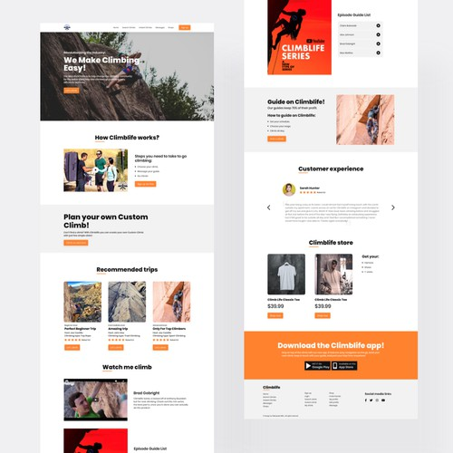 Climblife Website Design