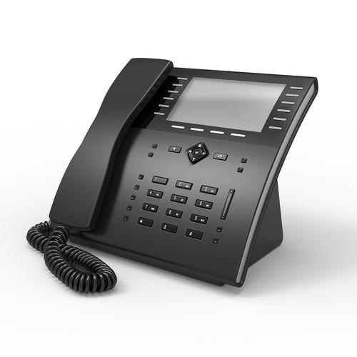 3D VOIP Phone Concept Black Buttons