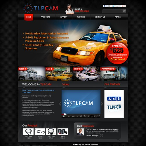 Create the next website design for tlpcam.com