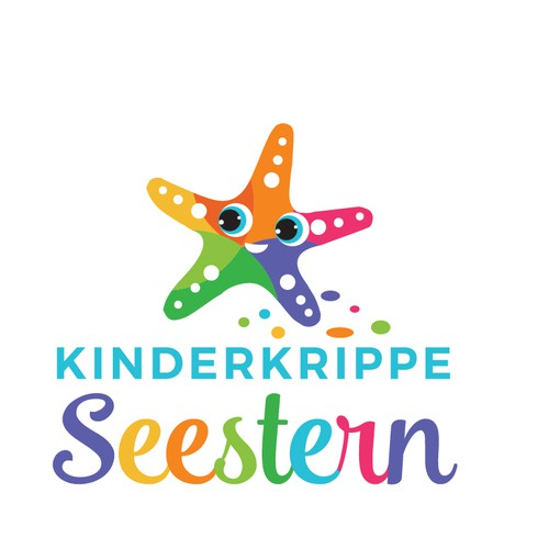 Adorable and cute logo for Kinderkrippe Seestern