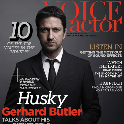 Create a magazine cover for Voice Actor magazine
