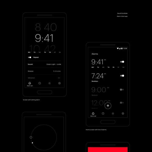 Clock app design