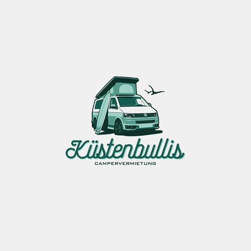 Küstenbullis Campervermietung logo concept