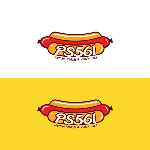 Retro Hot Dog Shop Logo