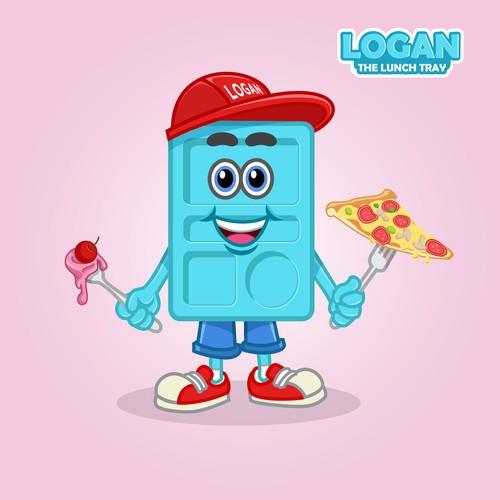 Logan The Lunch tray Mascot