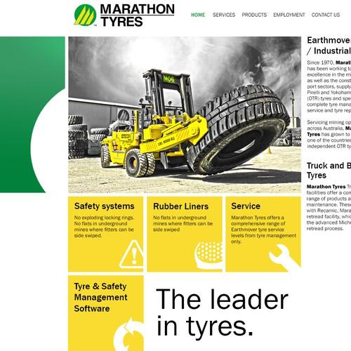 Create a modern classy look for Marathon Tyres