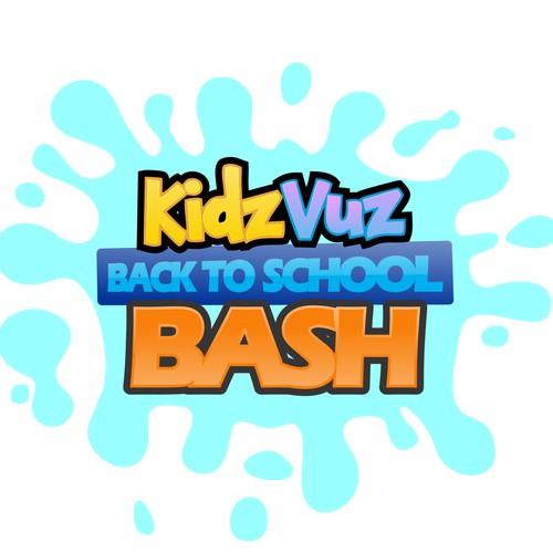 Create a super fun and cool event logo for KidzVuz!