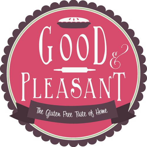Good & Pleasant: new logo for emerging brand of gluten free pies