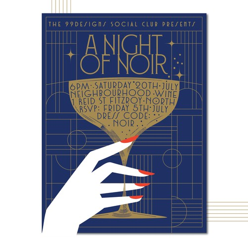 99social: 1920's/Art Deco Style Poster for our Annual Mid-Year Event!