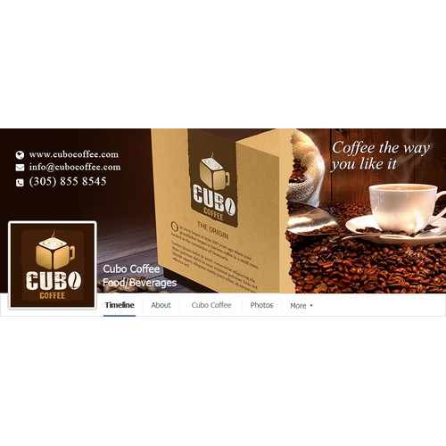 CUBO Coffee - Facebook page