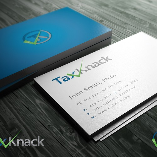 Create an exceptional logo and business card design for Tax Knack.