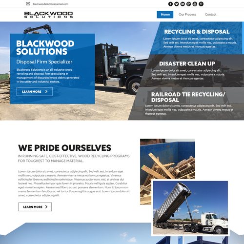 Design industrial website for Blackwood Solutions
