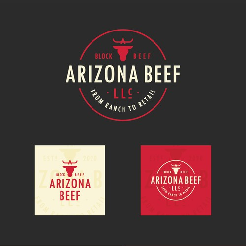 Bold logo for Arizona Beef