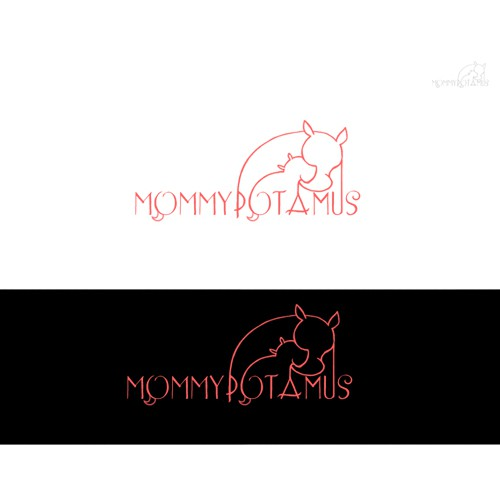 Playful logo needed for unique Mommypotamus Blog