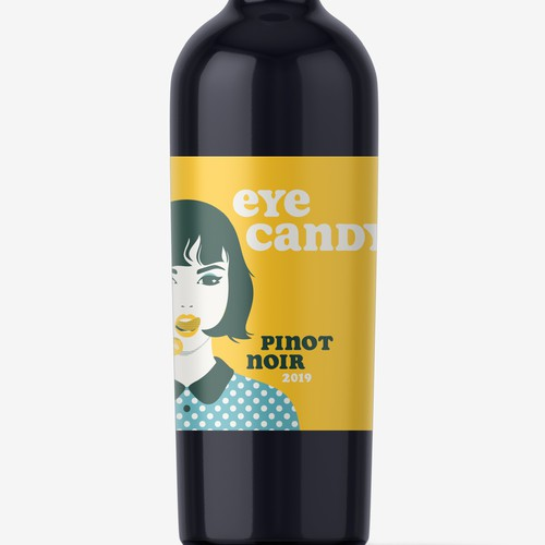 Eye catching wine label for millennial audience concept
