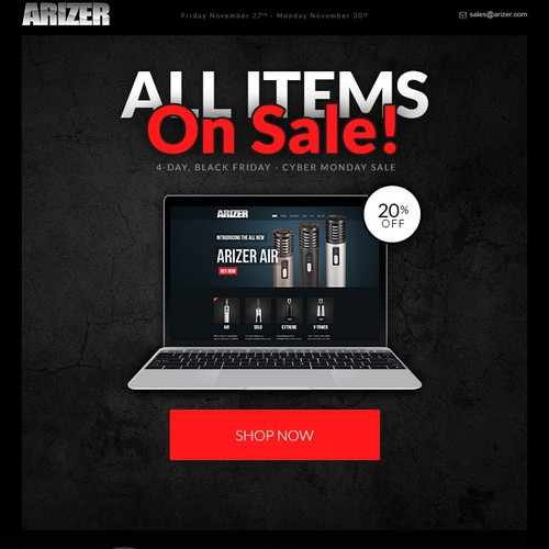Arizer Promotion Email Design