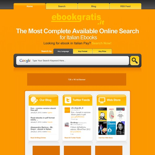 New design with improved usability for EbookGratis.It