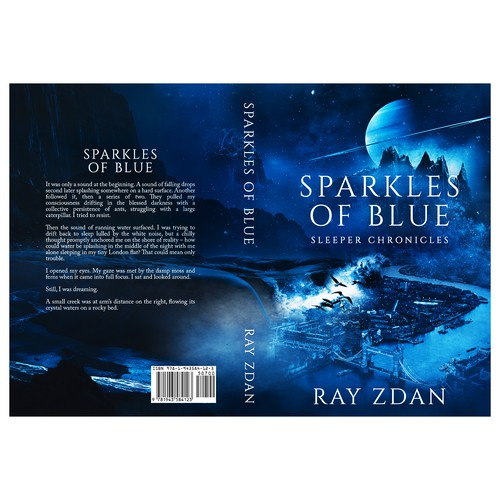 "Book cover for ""Sparkles of Blue"""