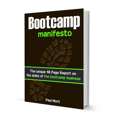 Create the next book or magazine cover for Bootcampking.com
