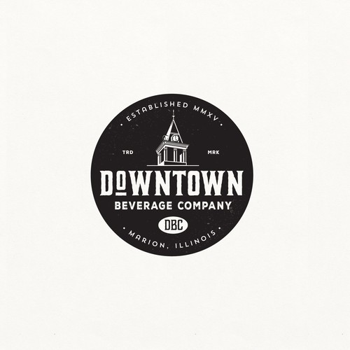 LOGO DESIGN FOR DOWNTOWN BEVERAGE CO.