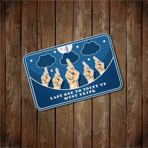 illustration card for drink-card game