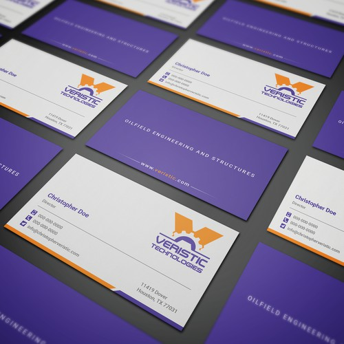 Business Card for Veristic Technologies
