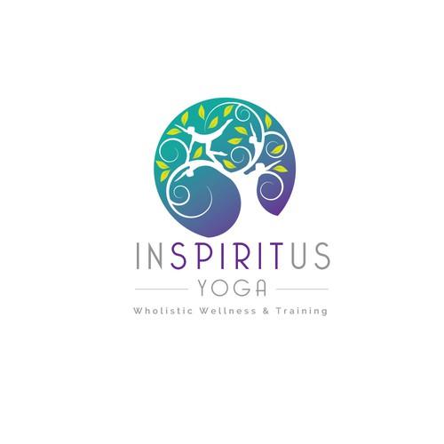 Logo for a yoga brand