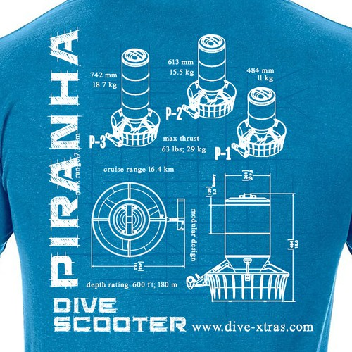 Blueprint Schematic T-shirt Design