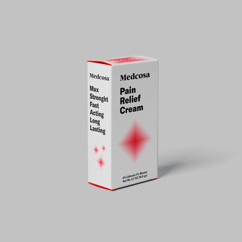 Packaging design for Pain Relief Cream