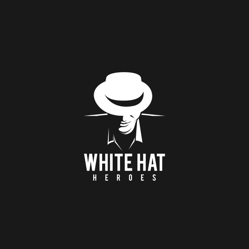 logo for white hat heroes