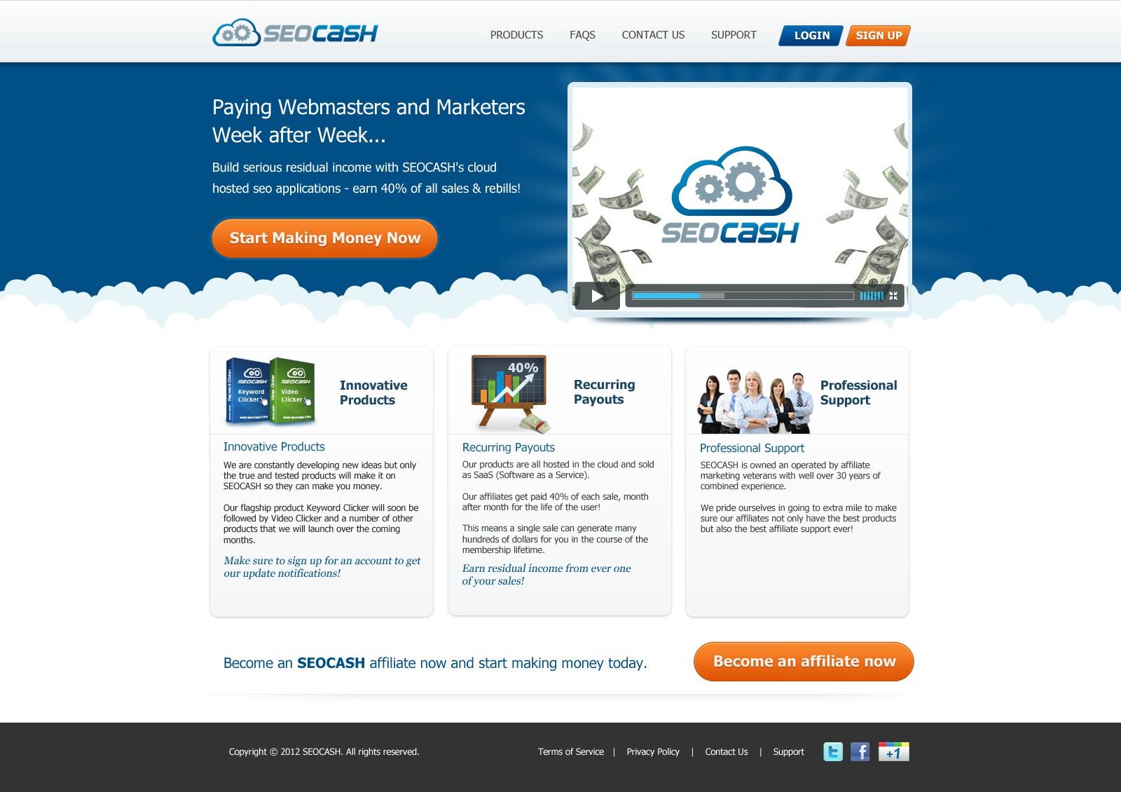 website design for SEOCASH