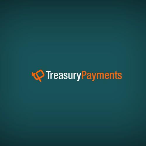 Treasury Payments Logo design