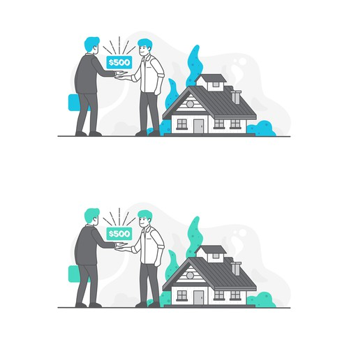 Web Illustration Concept for Trillionaire Realty