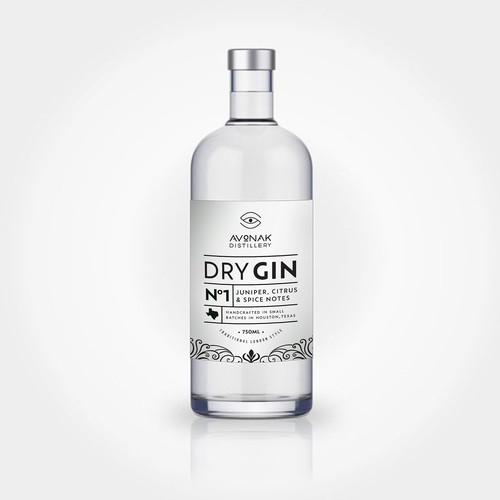 Dry Gin Label Design