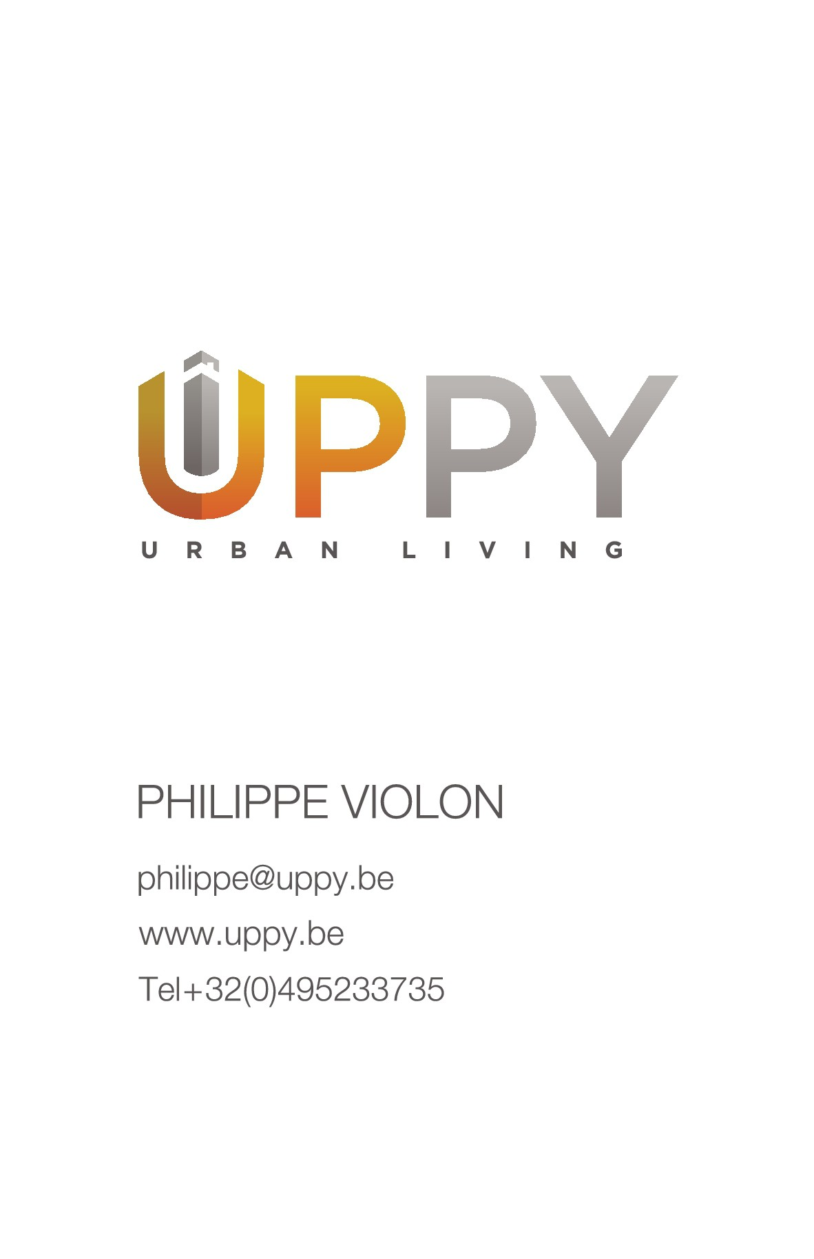 New logo for Uppy and double side business card