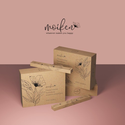 Natural eco package design for cosmetic products