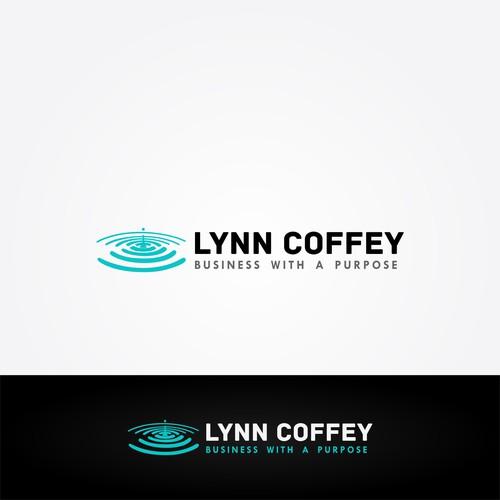 Ripple effect logo concept for Lynn Coffey