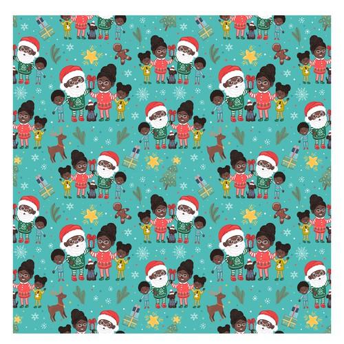 Christmas theme seamless pattern
