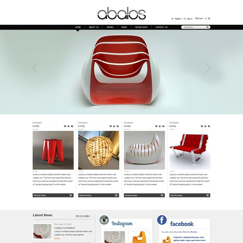 Word press Creative Website Design for Product Designer