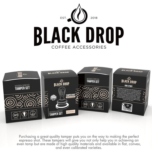 PRODUCT PACKAGING FOR DBLACK DROP