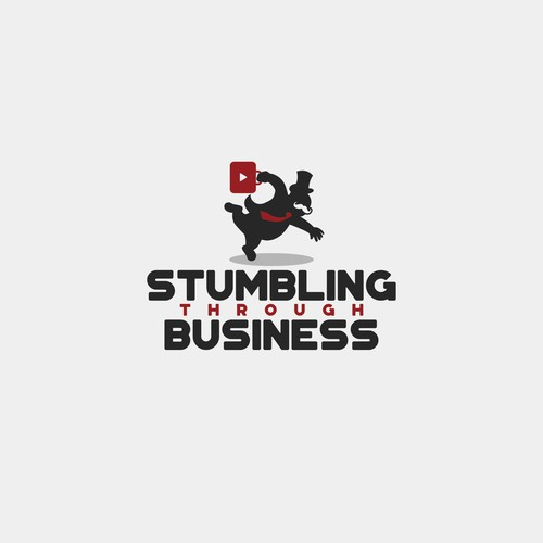 Concept for Stumbling Through Business Logo