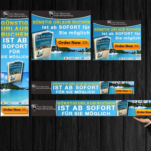 banner ad for www.low-cost-weltenbummler.com in Deutsch