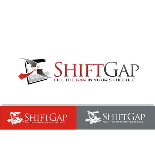 ShiftGap.com Logo Design - Shift Scheduling 2.0